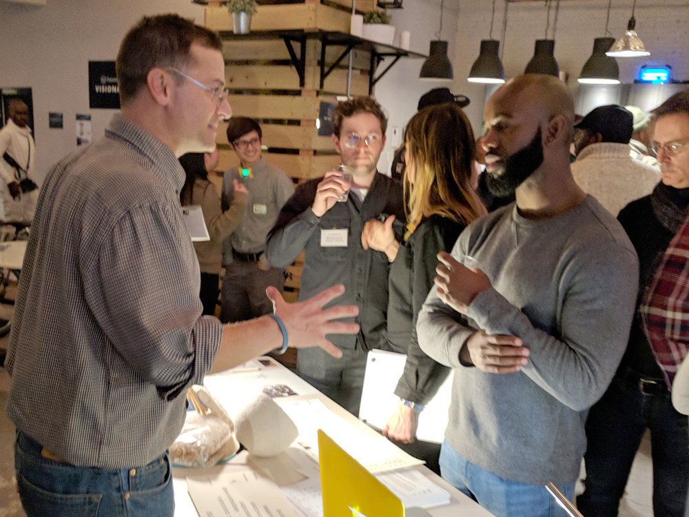 Andrew Chepaitis & Byron Johnson of ELIA discuss tactile printing at the Electropositive Event.