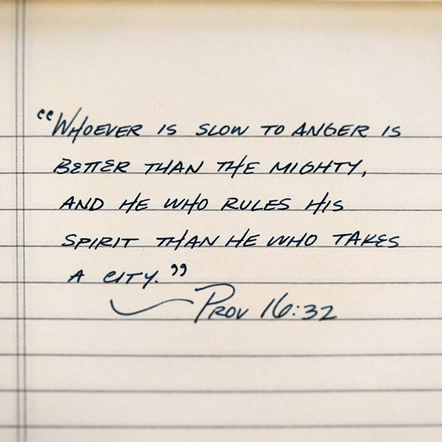 Prov 16:32 #proverbs_by_hand #proverbs #handwriting #handwritten #byhand #fountainpen #fountainpens #anger #patience #selfcontrol #bible #bibleverse