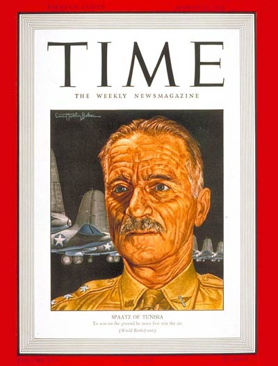 In 1943, Gen. Spaatz appeared on the cover of TIME Magazine.