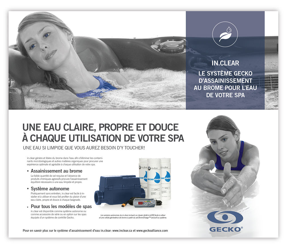 Affiche in.clear de Gecko