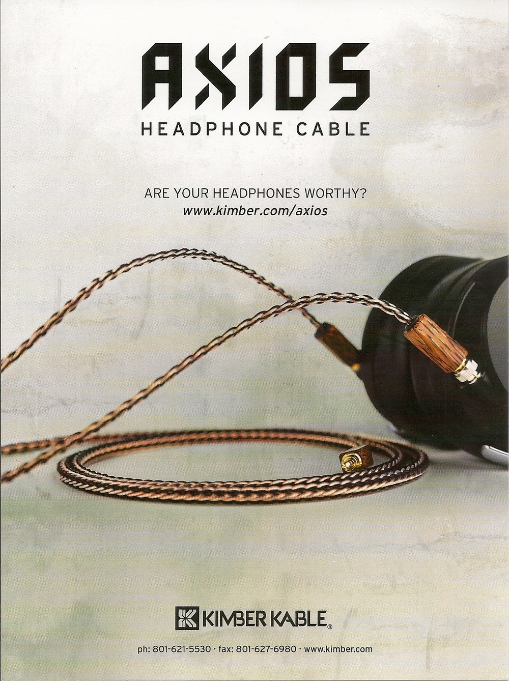 AXIOS is a new custom cable from industry leaders Kimber Kable just for the headphone enthusiasts please contact us at info@headphneaudiophile.com