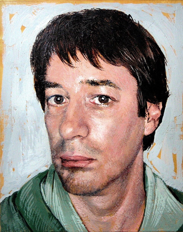 Encaustic Self Portrait by Kevin Frank