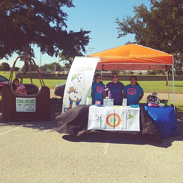 Stop by our table at the @bigcountryballoonfest today and tomorrow!!! ##bigcountryballoonfest #bigcountry #abilenetx #cdoa #childrensdentistryofabilene