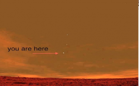 Earths in the Mars night sky as seen by the Curiosity Rover