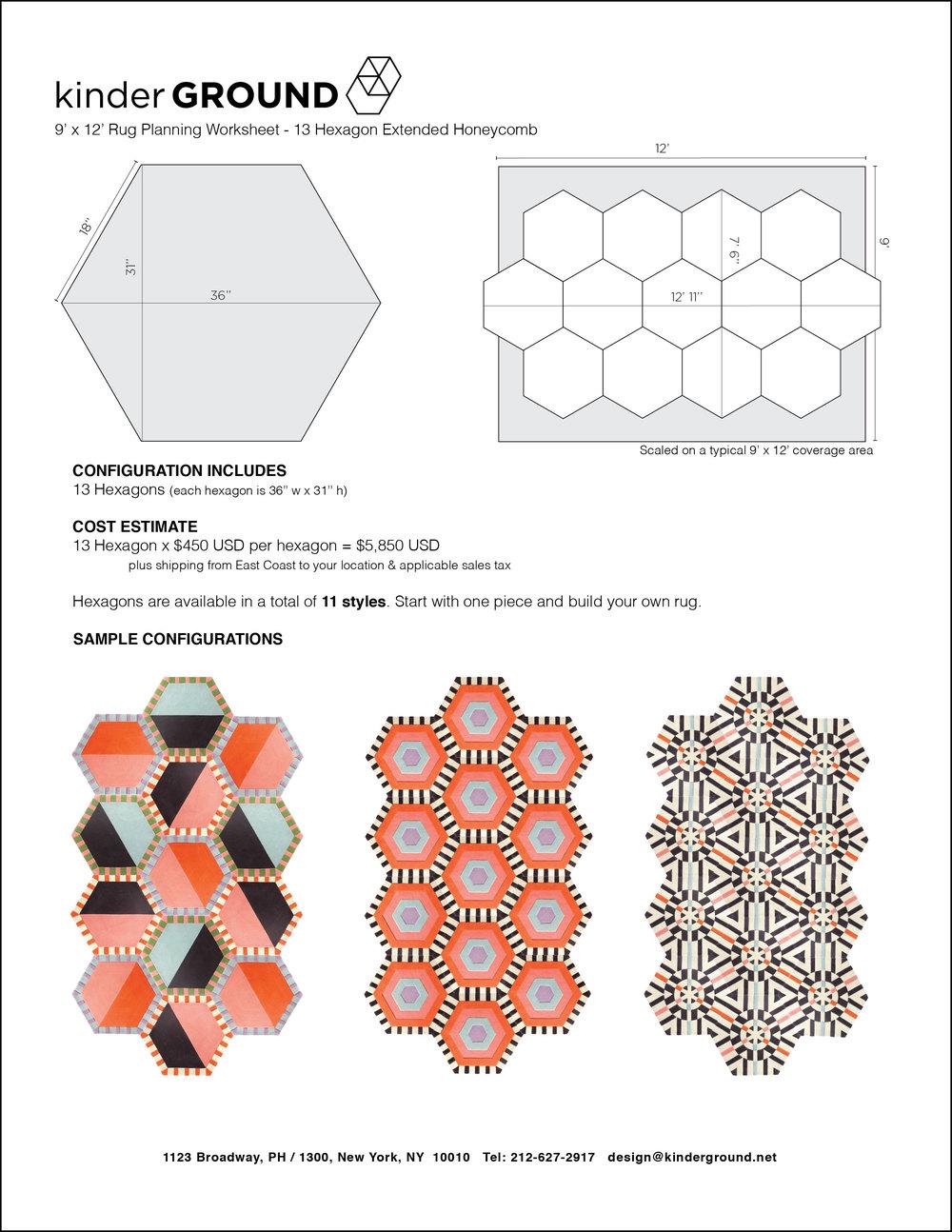 13-Hexagon Extended Honeycomb