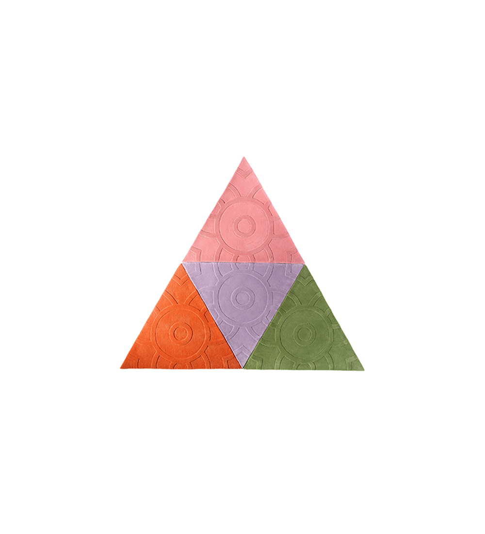 Large Triangle   Style: Solids Mix  Quantity: 4 Triangles  Measures: 6' w x 5'2'' h  Cost: $1,600 USD