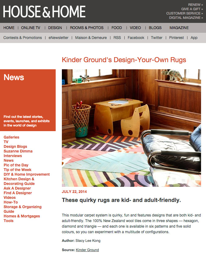Kinder Groundu0027s Design Your Own Rugs. Canadian House ...