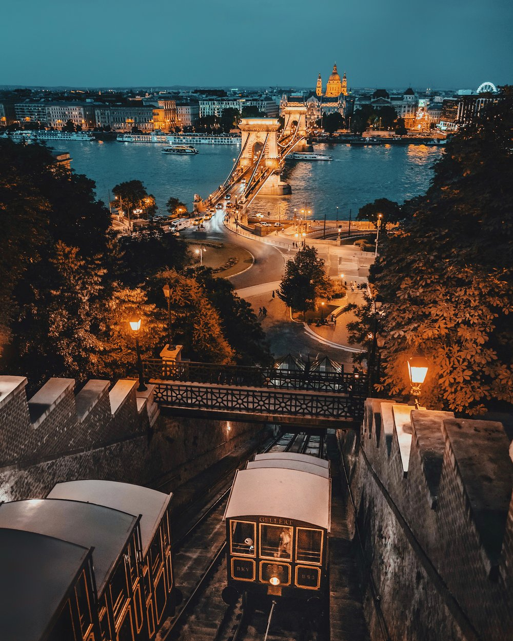 Budapest Funicular Chain Bridge