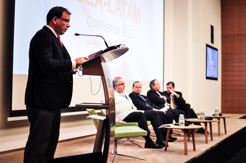 (R TO L)Mr Alejandro salas, trade representative of promexico, h.e. rogelio granguillhome (AMbassador of mexico), h.e. JAIRO HERNANDEZ MILIAN (AMBASSADOR OF COSTA RICA), H.E. MANUEL GERARDO TALAVERA ESPINAR (AMBASSADOR OF PERU) AND H.E. LUIS FERNANDO SERRA (AMBASSDOR OF BRAZIL)