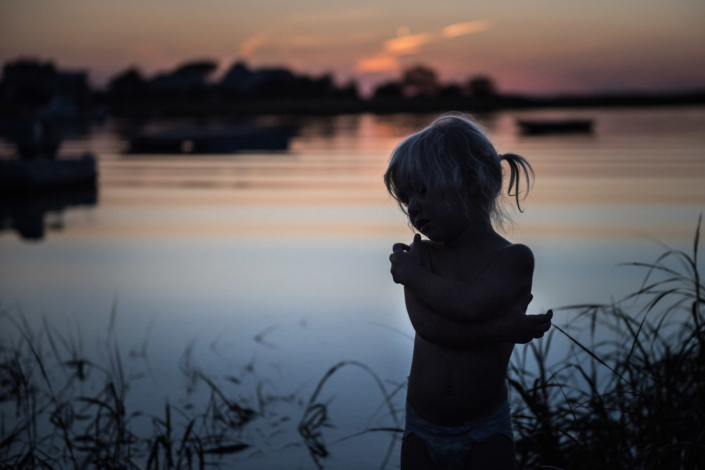 Blog - The Pen & Camera - Gratitude Journal, Inspirational, Spirituality, Writing, Motherhood, Friendship, Denver, Colorado - Documentary Childhood Photography - silhouette of girl at sunset by the basin on Plum Island, Newburyport, Massachusetts