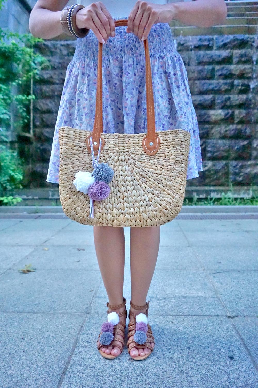Diy Matching Pom Pom Sandals Bag Charm Krystle Desantos