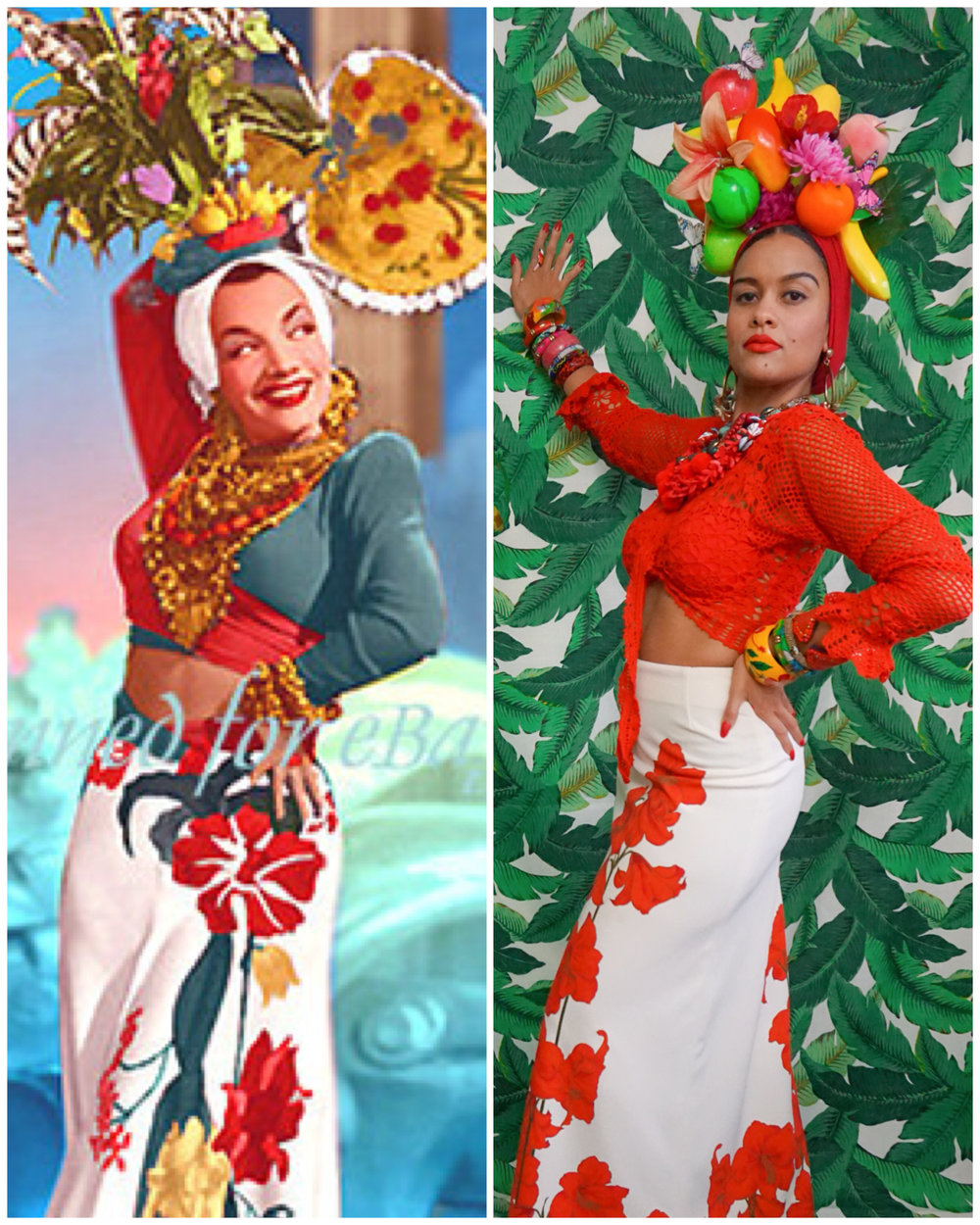 46f7c2538da DIY HALLOWEEN COSTUME -CARMEN MIRANDA   THE TUTTTI FRUTTI HAT ...