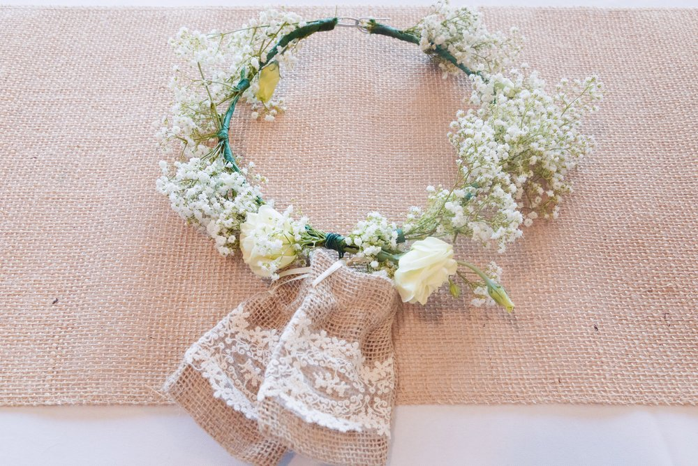 Floral (ring bearer) dog collar