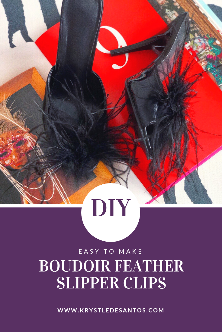 DIY BOUDOIR FEATHER SLIPPER CLIPS_1