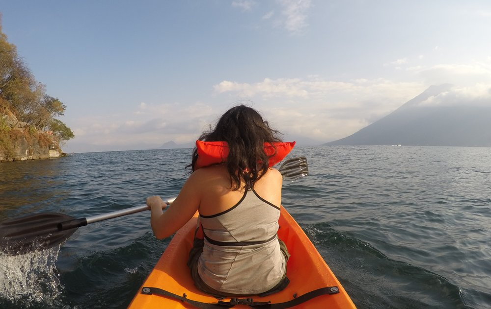Kayaking in Lago Atitlan, Guatemala
