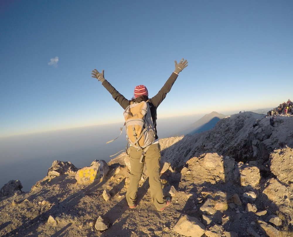 On the summit of Volcan Tajumulco, 13,845 FT