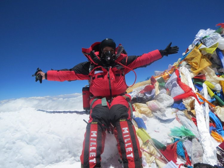 Miranda on Mt. Everest - the highest mountain in the world!