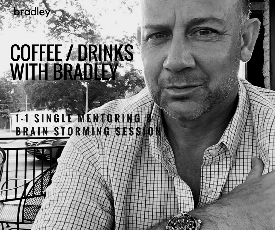 1 Single Mentoring & Brain Storming Session - Coffee With Bradley