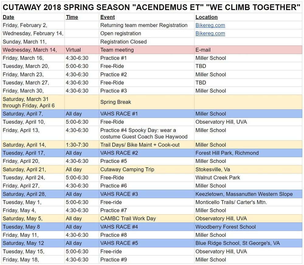 2018 Fall Cutaway MTB Team Schedule (1).JPG