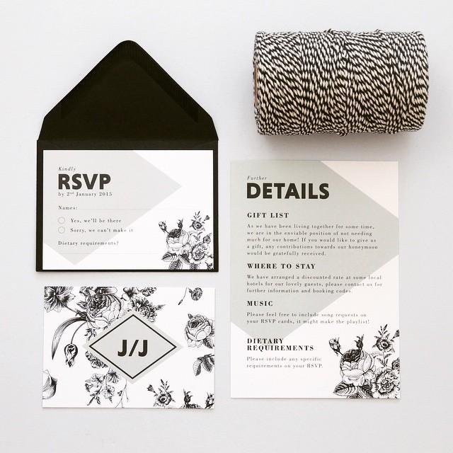 B L A C K  R O S E  Vintage styling with a contemporary twist  #blackrose #floral #vintage #luxury #love #bespoke #wedding #stationery #papergoods #instabride #instawedding #loveinkdesign