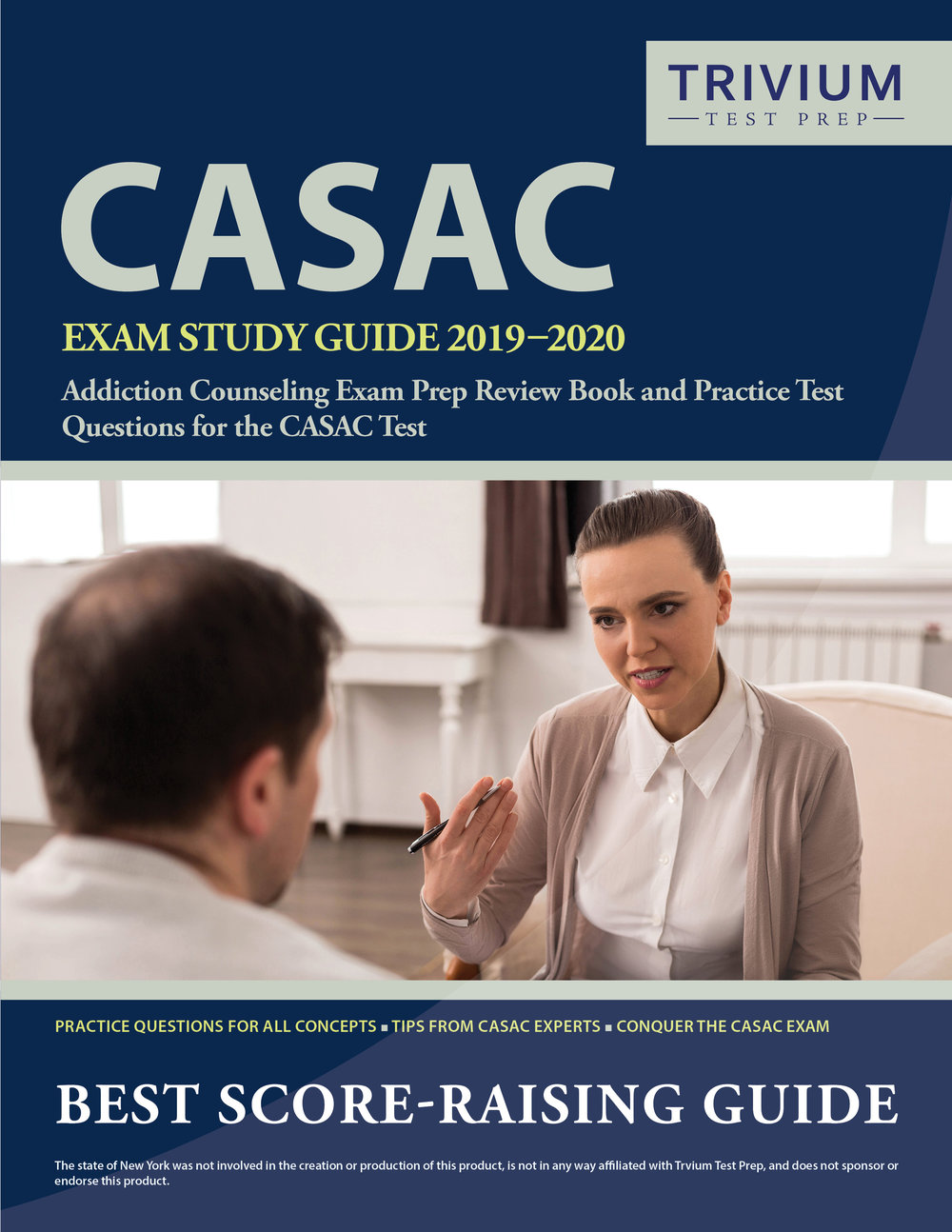 CASAC Exam Study Guide Prep Review Book and Practice Test Questions