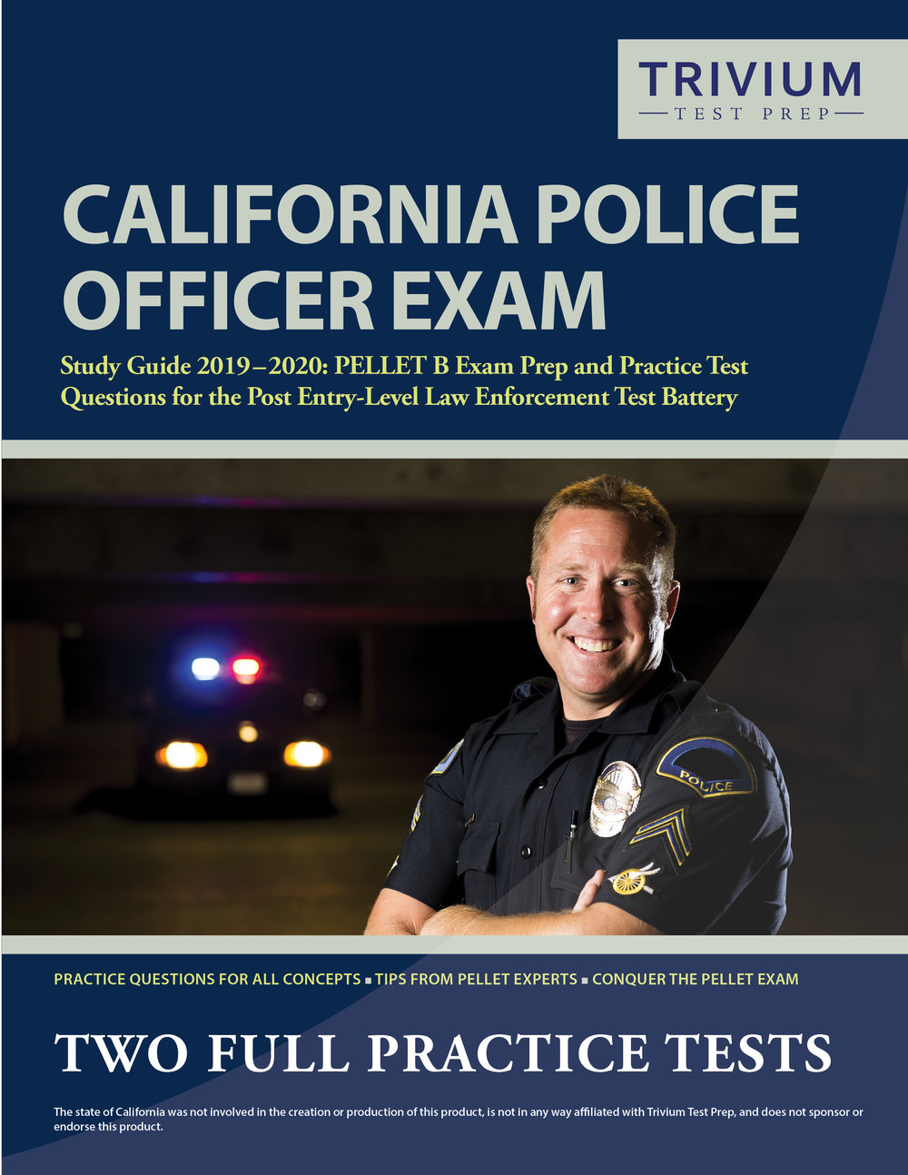 PELLET-B California Police Officer Exam Study Guide Prep and Practice Test Questions