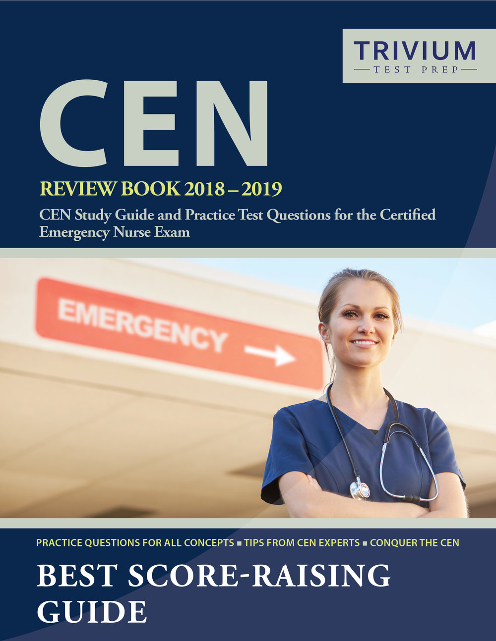 CEN Review Book Study Guide and Practice Test Questions