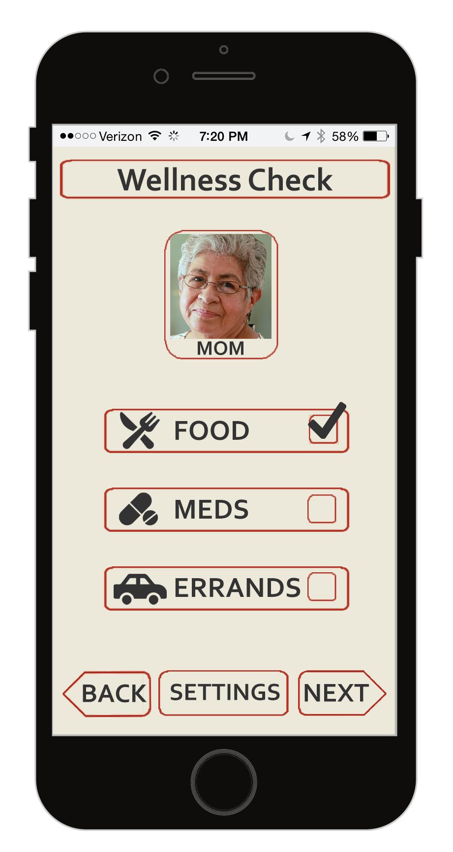 Select Wellness Check Needs