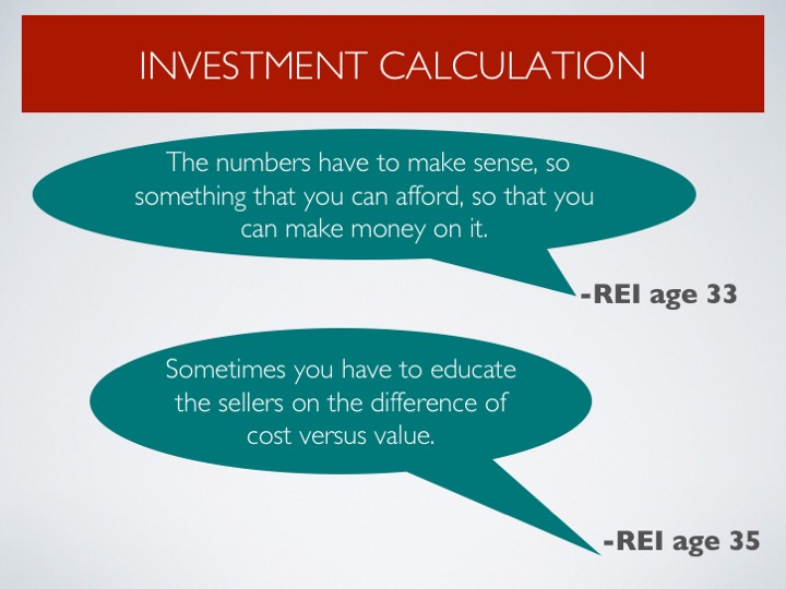 Expressing the need for calculating value and costs as well as ROI