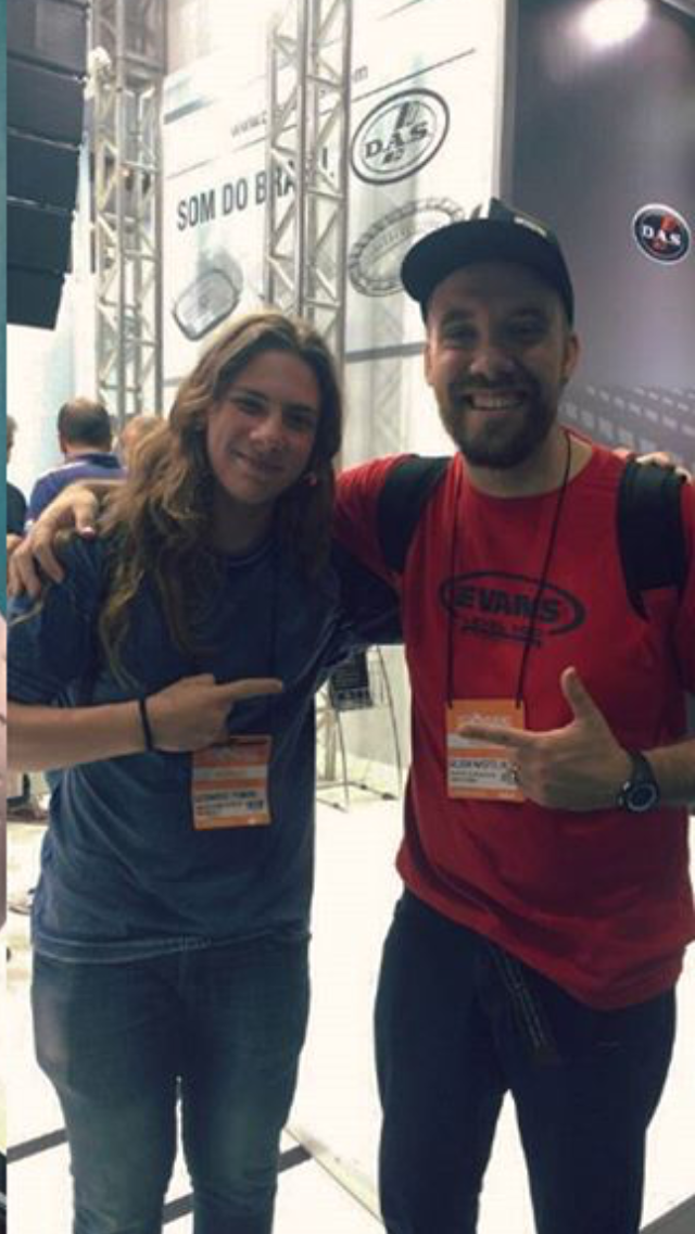 com o amigo Leonardo Panara