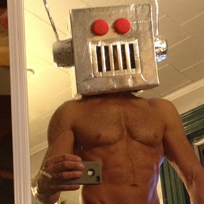 He is a robot.