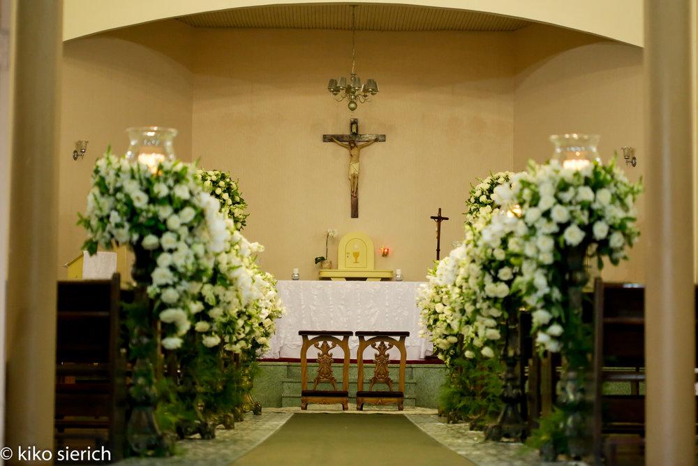 curso de assessoria e cerimonial para casamentos - decoração da igreja