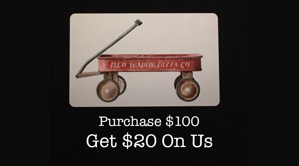 Red Wagon Gift card promotion