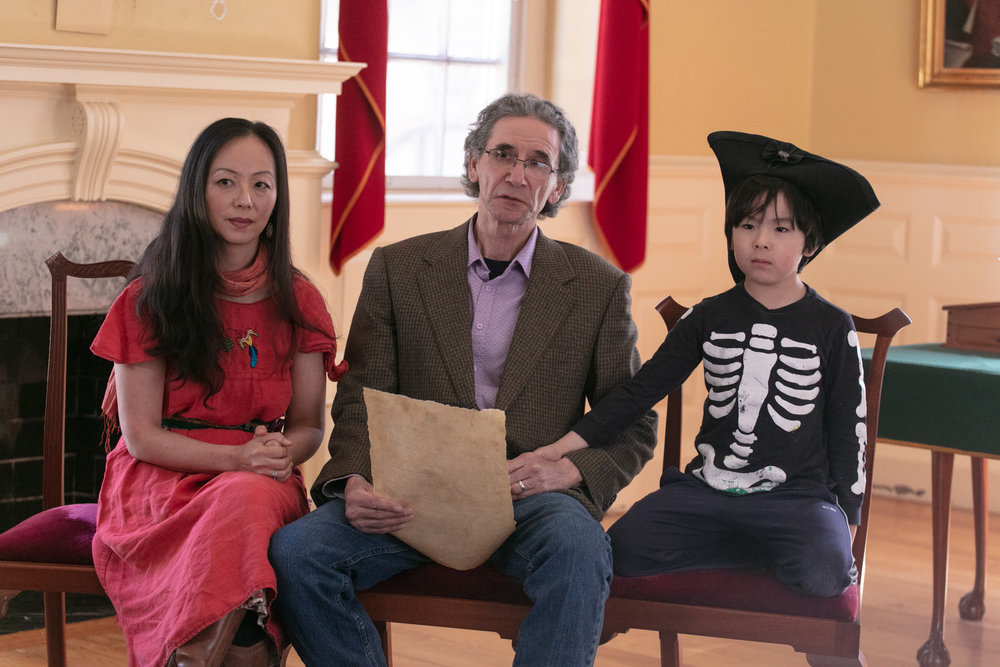 Film participants Tim Shay, Shiwa Noh and Charlie Shay  (Photo by Jeremy Dennis)