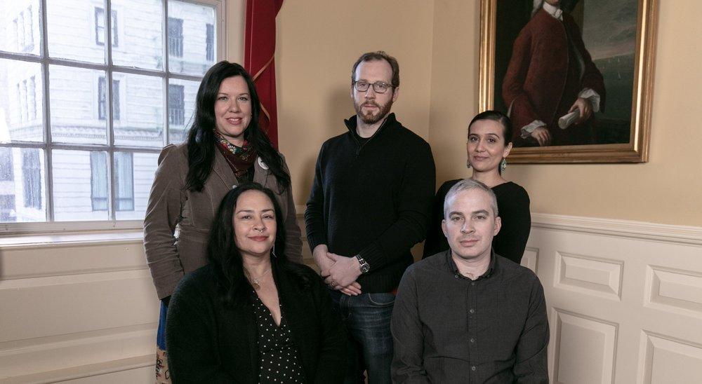 Bounty co-directors from top row left: Dawn Neptune Adams, Ben Pender-Cudlip, Maulian Dana, Tracy Rector, and Adam Mazo