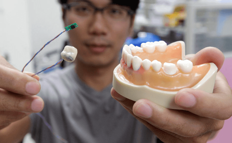 Taiwanese scientists have developed a new sensor that sits in your mouth and could tell doctors if you are overeating or smoking too much.