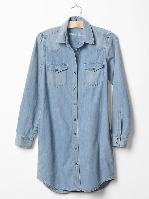 Gap 1969 denim western shirtdress