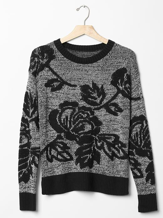 Gap's Floral Jacquard Pullover Sweater