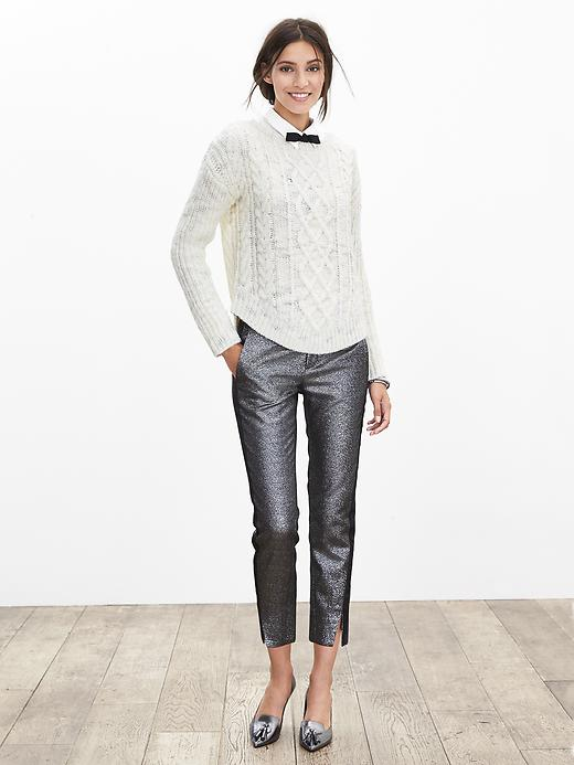 Chunky Cable-Knit Pullover from Banana Republic