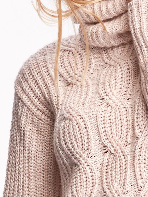Old Navy's Cable-Front Turtleneck Sweater