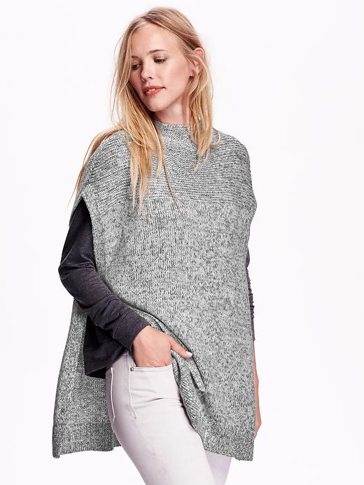 Old Navy's Marled Mock-Neck Poncho Sweater
