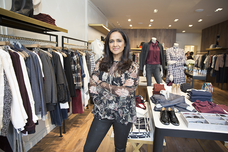 Intermix President Jyothi Rao in the brand's new San Francisco store.