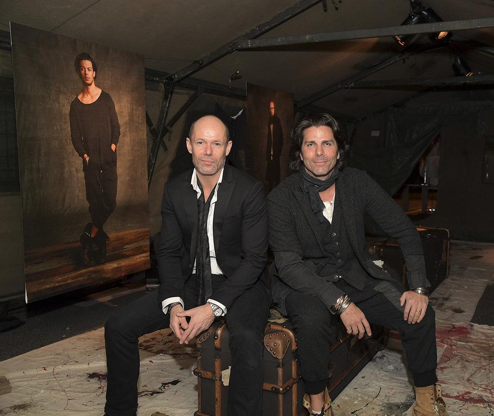 BR's SVP of Design, Michael Anderson (left) and Fashion Designer Greg Lauren