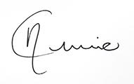 Annie Carone signature