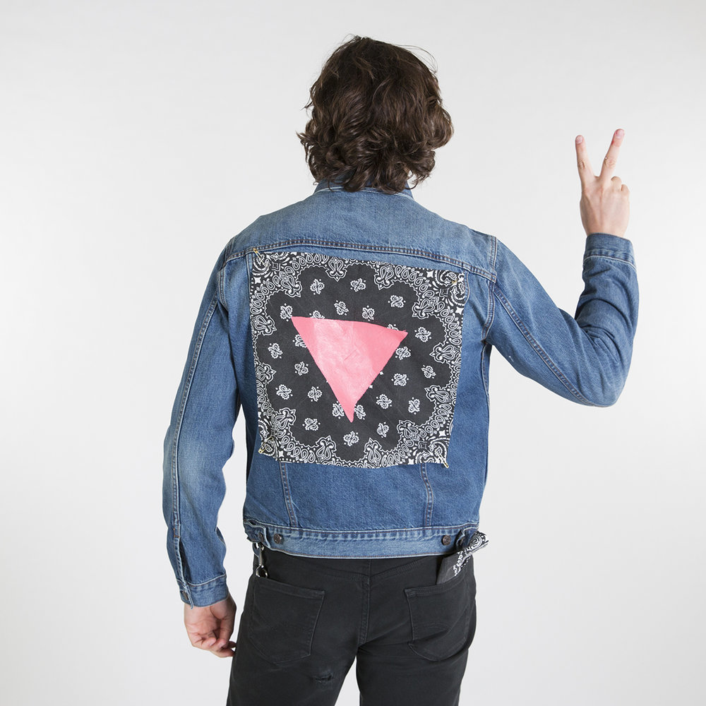 Pride Old Navy Denim Jacket Back
