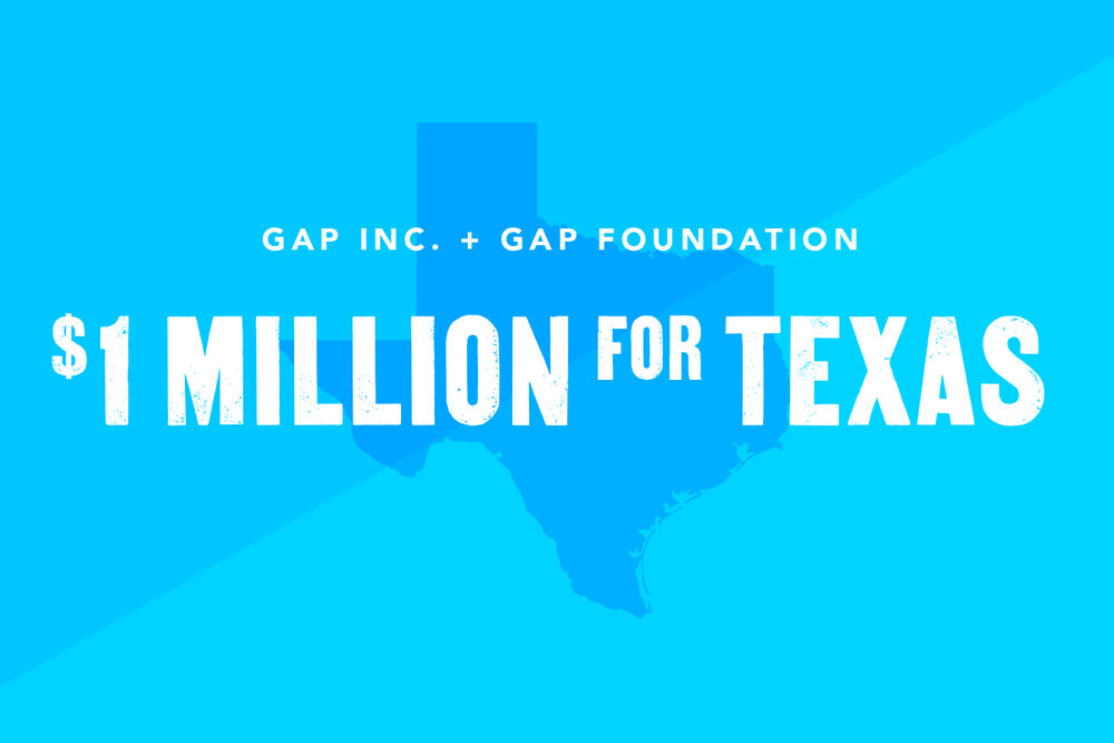Gap Inc. and Foundation give to Hurricane Harvey Relief