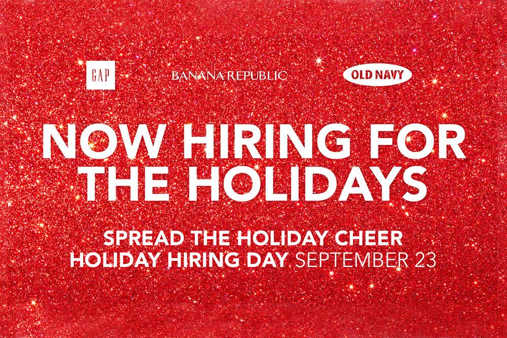 Gap Inc Holiday Hiring