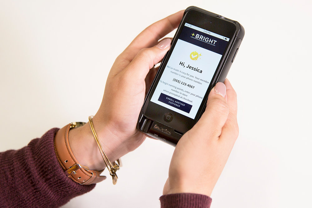Customers can easily enroll in-store on our associate mobile devices.