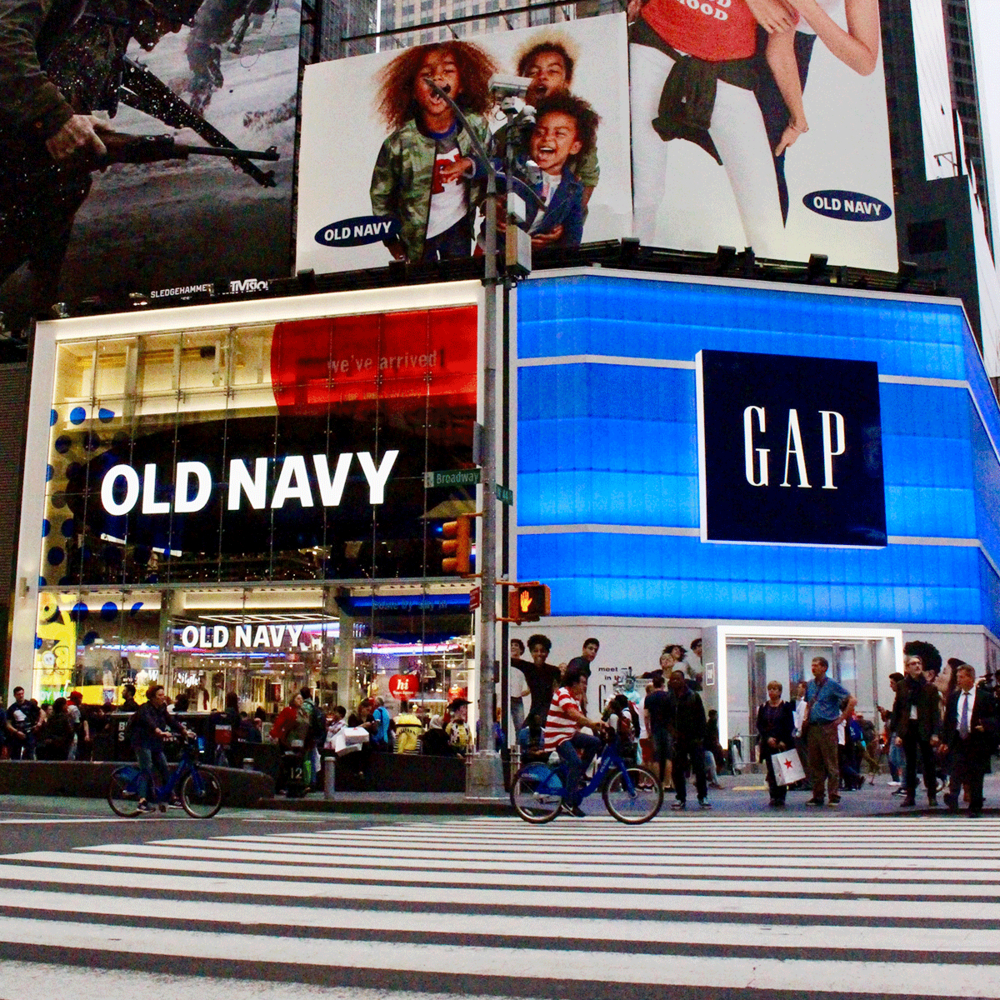 gap and old navy open flagship stores in times square