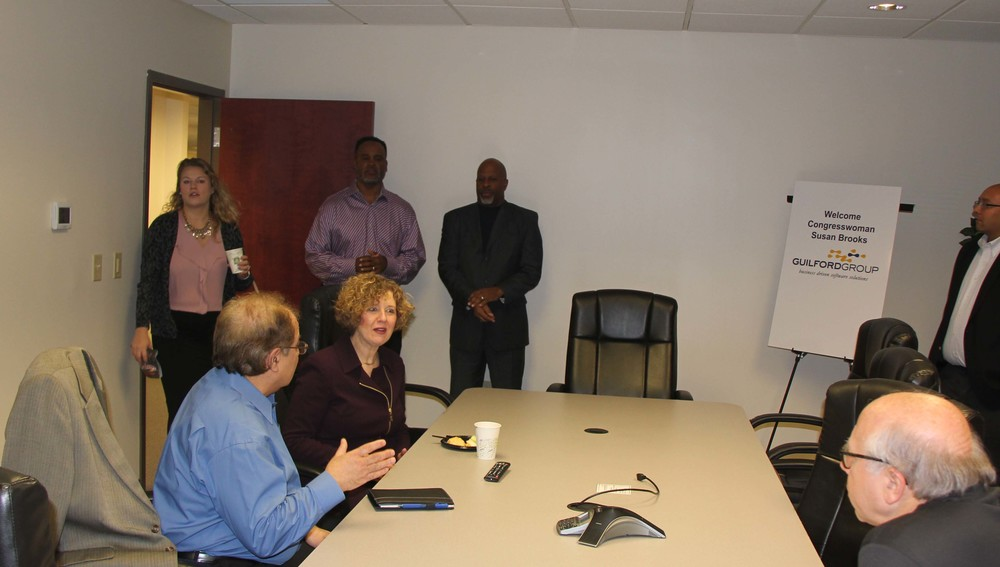 Congresswoman Susan Brooks visits Guilford Group, December 2015.